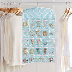 Waverly® 2-Sided Hanging Jewelry Organizer, SPA BLUE