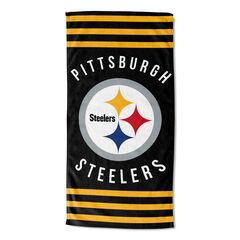 Steelers Stripes Beach Towel, MULTI