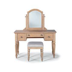 Cambridge White Vanity/Mirror & Bench, WHITE