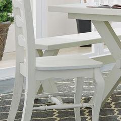 Seaside Lodge Dining Chair Pair, WHITE