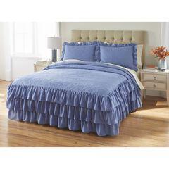 Jenny 3-Pc. Ruffle Flounce Bedspread, SMOKE BLUE