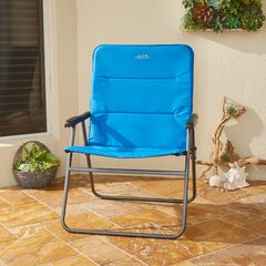 Oversized Comfort Folding Chair, BLUE