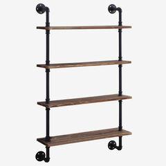 Anacortes Four Shelf Piping, BLACK