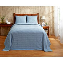 Natick Collection Tufted Chenille Bedspread , BLUE