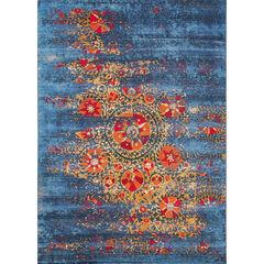 Liora Manne Marina Suzanie Indoor/Outdoor Rug, BLUE