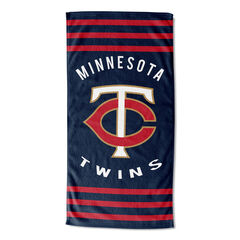 Twins Stripes Beach Towel,