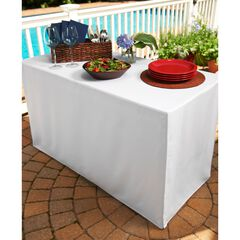Fresh Ideas Table Cover for Folding Table, WHITE