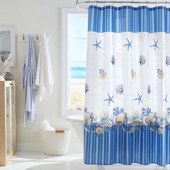 Caribbean Joe 14-Pc. Shower Curtain Set, SHELL WREATH