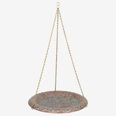 Oak Leaf B'Bath Bowl, COPPER VERDIGRIS