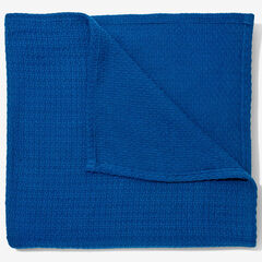 BH Studio Primrose Cotton XL Blanket, MARINE BLUE