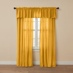 Poly Cotton Canvas Rod-Pocket Valance, OCHRE