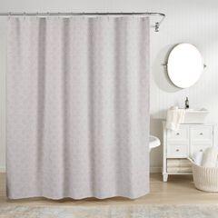 Bogart European Matelassé Shower Curtain, GREY