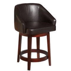 Nina Swivel Counter Stool, DARK BROWN