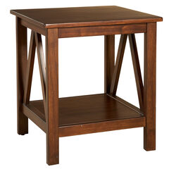 Titian End Table, ANTIQUE TOBACCO