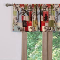 Rustic Lodge Window Valance , MULTI