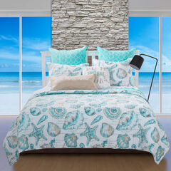 Cruz Quilt Set , SEASHELL