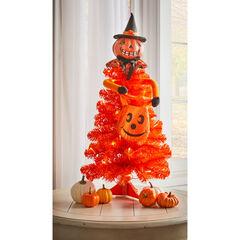 Halloween Pumpkin Figure Tabletop Tree, PUMPKIN