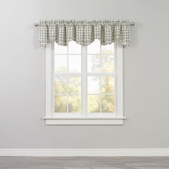 Country Check Layered Valance, SAGE