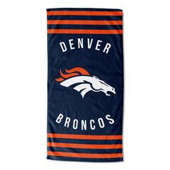Broncos Stripes Beach Towel, MULTI