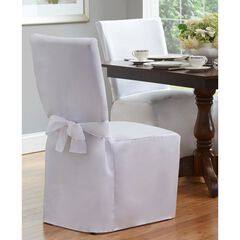 """Fresh Ideas Dining Room Chair Cover 42"""" x 19"""", WHITE"""