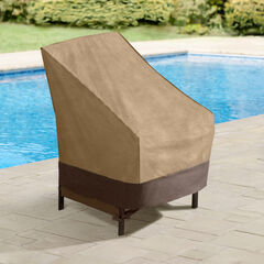 Outdoor High Back Chair Cover, TAUPE