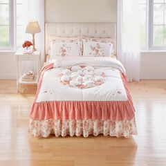 Brie Patchwork Bedspread, PINK MULTI