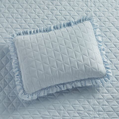 Serena Washed Microfiber Sham, POWDER BLUE