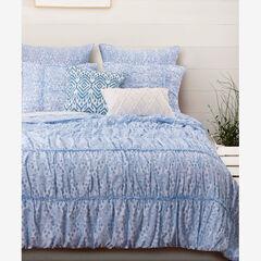 Helena Ruffle Quilt Set , BLUE