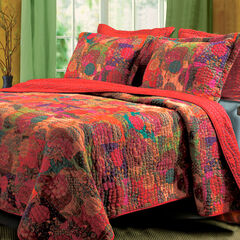 Jewel Quilt Set , RED