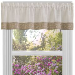 "Oakwood 58"" x 14"" Window Curtain Valance, NATURAL"