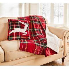 Christmas Throw & Cushion Set, RED MULTI