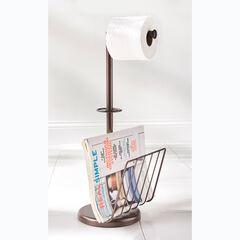 Toilet Paper Holder with Magazine Rack, BRONZE