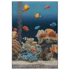 Liora Manne Marina Aquarium Indoor/Outdoor Rug, OCEAN
