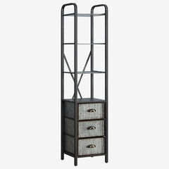 Intek Tower with Three Drawers, MULTI