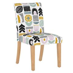 Helsinki Block Dining Chair, LAVENDER MULTI