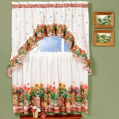 Cucina Printed Tier and Swag Window Curtain Set, MULTI