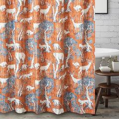 Menagerie Saffron Bath Shower Curtain, SAFFRON