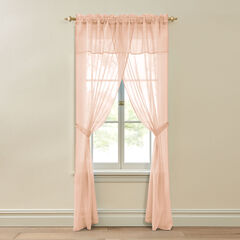 BH Studio Crushed Voile 5-Pc. One-Rod Set, PEACH