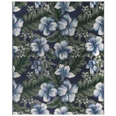 Liora Manne Marina Floral Indoor/Outdoor Rug, NAVY