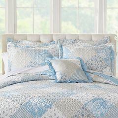 """Patchwork 16""""Sq. Pillow, LIGHT BLUE"""