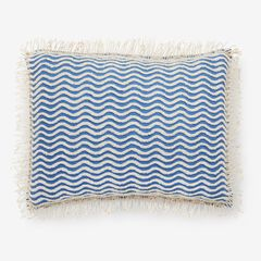 Wave Chenille Sham, BLUE