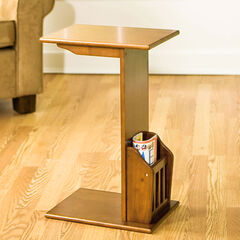 Mission Magazine Snack Table, WALNUT