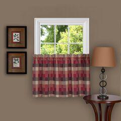 Harvard Window Curtain Tier Pair, BURGUNDY