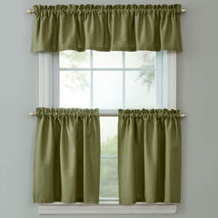 BH Studio Cotton Canvas Tier Set with Valance, SAGE