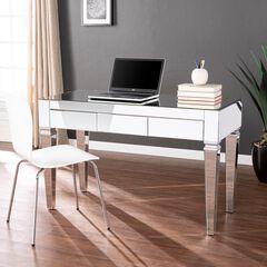 Darien Mirrored Desk, SILVER