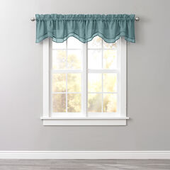 BH Studio Sheer Voile Layered Valance, FOREST