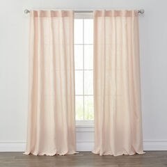 Liam Washed Linen Panel, PALE ROSE