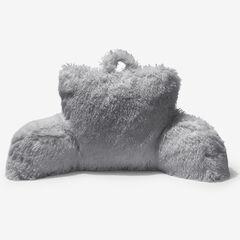 Lola Shaggy Backrest Pillow, GRAY