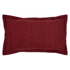 Better Trends Jullian Collection in Bold Stripes Design Sham, BURGUNDY