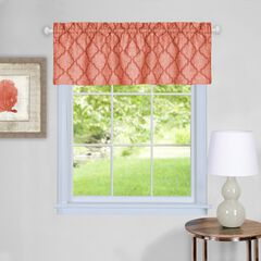 "Colby Window Curtain Valance 58"" x 14"", ORANGE"